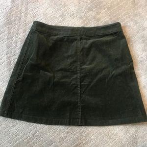 Aritzia Dark Green Skirt
